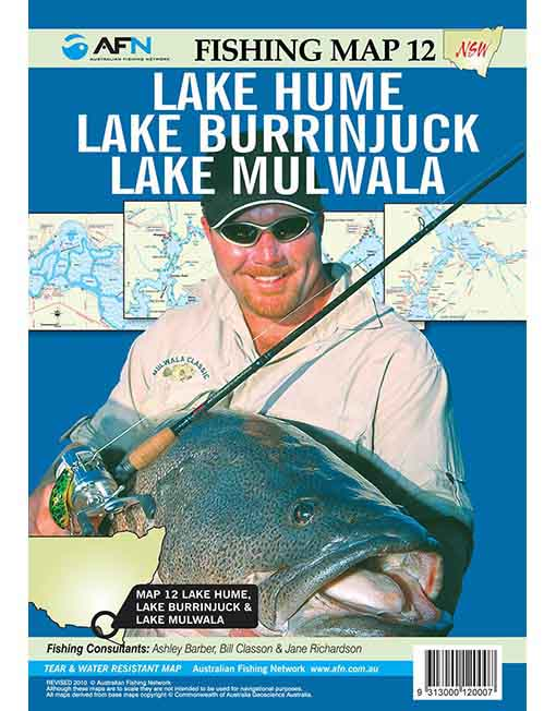 Map Lake Hume, Burrinjuck, Mulwala