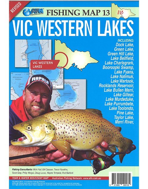 Vic Western Lakes Map