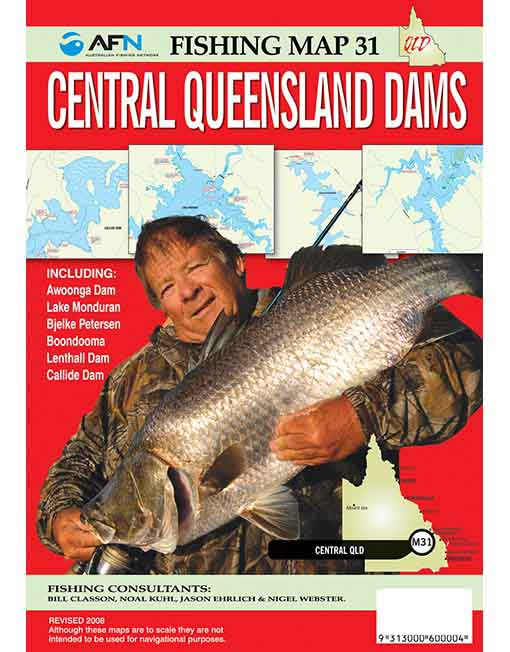 Central QLD Dams Fishing Map