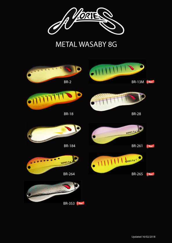 Nories Metal Wasaby 8g Colours
